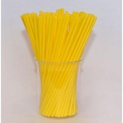 """Палочки для сахарной ваты пластиковые 37 см 100 шт """"Желтый"""""""