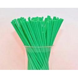 """Палочки для сахарной ваты пластиковые 37 см 100 шт """"Зеленый"""""""