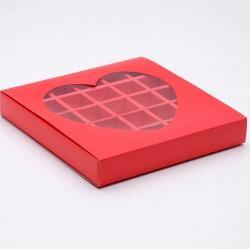 "Коробочка для конфет алая ""Сердце"""