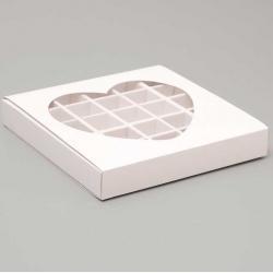"""Коробочка для конфет белая """"Сердце"""""""