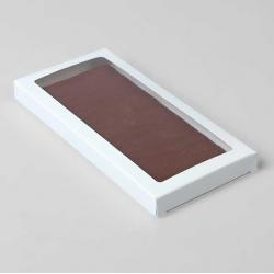 Коробочка для плитки шоколада (Белый)