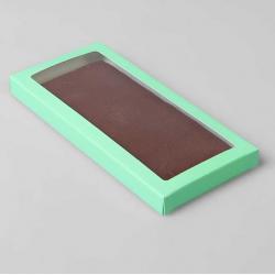 Коробочка для плитки шоколада (Мятный)