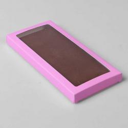 Коробочка для плитки шоколада (Розовый)