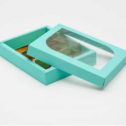 """Упаковка для сладостей салатовая """"Эклер"""" 25 х 20 х 4,5 см"""