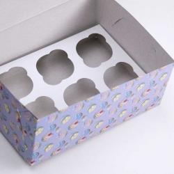 "Упаковка для капкейков на 6 шт ""Маффин"" 25 х 17 х 10 см"