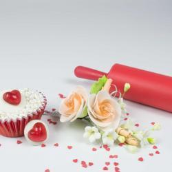 """Сахарные цветы """"Ветка Розы №2"""" (персиковая)"""
