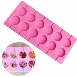 Силиконовая форма для леденцов и шоколада 12 ячеек