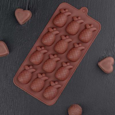 """Силиконовая форма для шоколада """"Ананасы мини"""""""