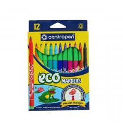 """Фломастеры с пищевыми красителями 12 цветов """"Eco markers"""""""