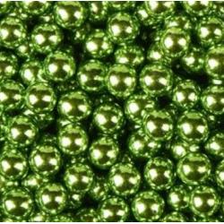"""Посыпка кондитерская шарики """"Зеленые металл"""" 6 мм 100 гр"""