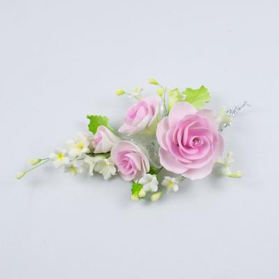 """Сахарные цветы """"Большая ветка Розы """" (розовая)"""