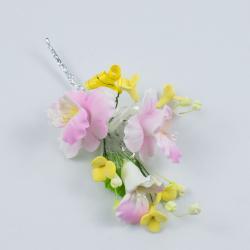"""Сахарные цветы """"Ветка Орхидеи"""" №2 (розовая)"""