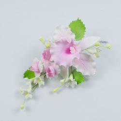 """Сахарные цветы """"Большая ветка Орхидеи Каттлеи"""" (розовая)"""