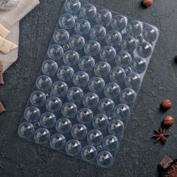 "Пластиковая форма для шоколада 3D ""Шарики"" 54 ячейки"