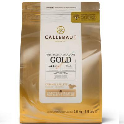 """Шоколад со вкусом  карамели 30,4 % """"Callebaut Gold"""" 2,5 кг"""