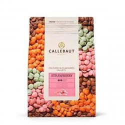 """Шоколад розовый со вкусом клубники """"Callebaut strawberry"""" 1 кг"""
