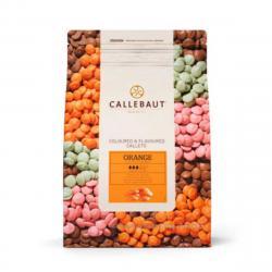 """Шоколад оранжевый со вкусом апельсина """"Callebaut orange """" 1 кг"""