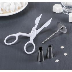Набор кондитерский: ножницы, гвоздь, 2 насадки
