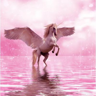 """Съедобная картинка на торт """"Лошадь с крыльями"""""""
