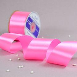 Лента атласная Розовая 5 см