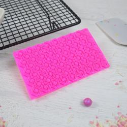 Печать штамп для мастики и теста Решетка ромб с цветком