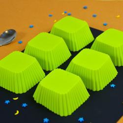 Набор силиконовых форм для выпечки Квадрат 6 шт