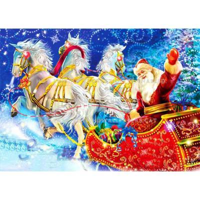 Съедобная картинка на торт Дед Мороз в санях