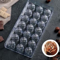 """Форма для шоколада 21 ячейка """"Розочки"""""""