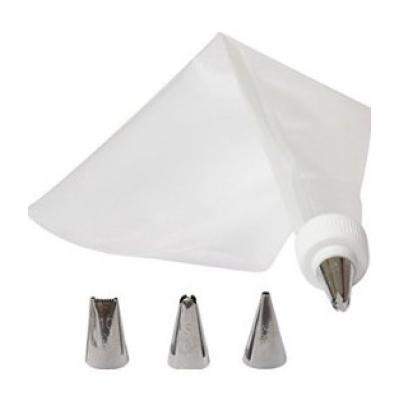 Набор кондитера: мешок кондитерский силикон, 4 насадки, переходник