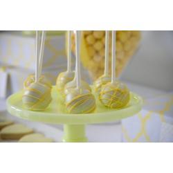 """Палочки для кейк-попсов пластиковые 11 см  50 шт """"Желтый"""""""