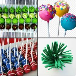 """Палочки для кейк-попсов пластиковые 11 см  50 шт """"Зеленый"""""""