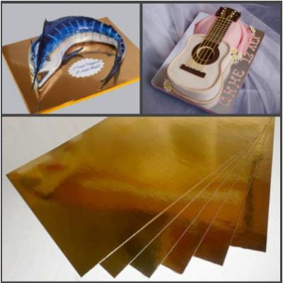 """Подложки для кондитерских изделий прямоугольник """"Золото-серебро"""" 30х40 см (10 шт)"""