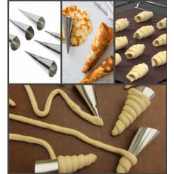 Набор форм для круассанов и трубочек 6 шт