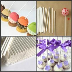 Палочки пластиковые для кейк-попсов и леденцов 20 см (50 шт)