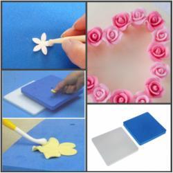 Набор матов для моделирования и сушки цветов из мастики 2 шт