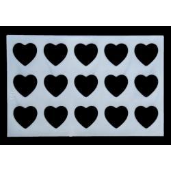 """Трафарет для айсинга, вырезания теста """"Сердца"""""""
