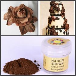 "Краска сухая для цветов Sugarflair ""Nutkin Brown"" (коричневый) 5 мл"