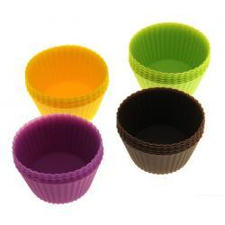 """Набор силиконовых форм для выпечки """"Рифленые круги"""", 6 шт."""