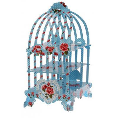 """Подставка для пирожных """"Цветок"""", цвет голубой"""