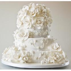 Белая сахарная мастика для обтяжки тортов и лепки фигурок (1 кг) Сладкий шелк
