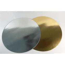 Подложки для кондитерских изделий Золото/серебро d 32 см (10 шт)