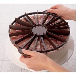 Делитель для торта пластиковый 10/12 частей 26,5 см