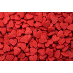Посыпка кондитерская сердечки красные 100 гр.