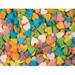 Посыпка кондитерская сердечки разноцветные 100 г