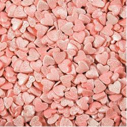 Посыпка кондитерская сердечки розовые перламутровые 100 гр