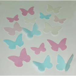 Вафельные бабочки однотонные 10 шт