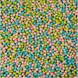 Посыпка кондитерская шарики перламутровые 1-2 мм 100 гр голуб-зел-розовый