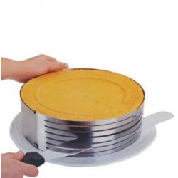 Форма для бисквита регулируемая 24/30 см с отверстиями для нарезки