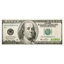 """Вафельная картинка """"100 долларов"""" 20х8.7 см"""