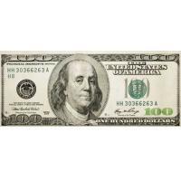 """Вафельный лист """"Доллары"""" 12 шт"""